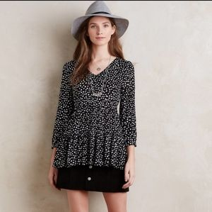 ANTHRO MAEVE Lila Tunic Black and White Tunic Top